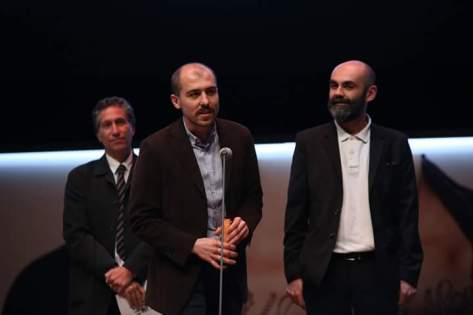 Ο Πάμος Χαραμής δεξιά με τον Τούρκο συσκηνοθέτη Μπεκίρ Ονούρ