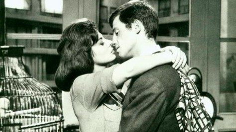 Sandra Milo and Jean-Paul Belmondo in Claude Sautet's CLASSE TOUS RISQUES (1960).