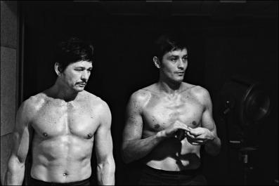 "00/00/1968. TOURNAGE DU FILM : ""ADIEU L'AMI"" DE JEAN HERMAN"